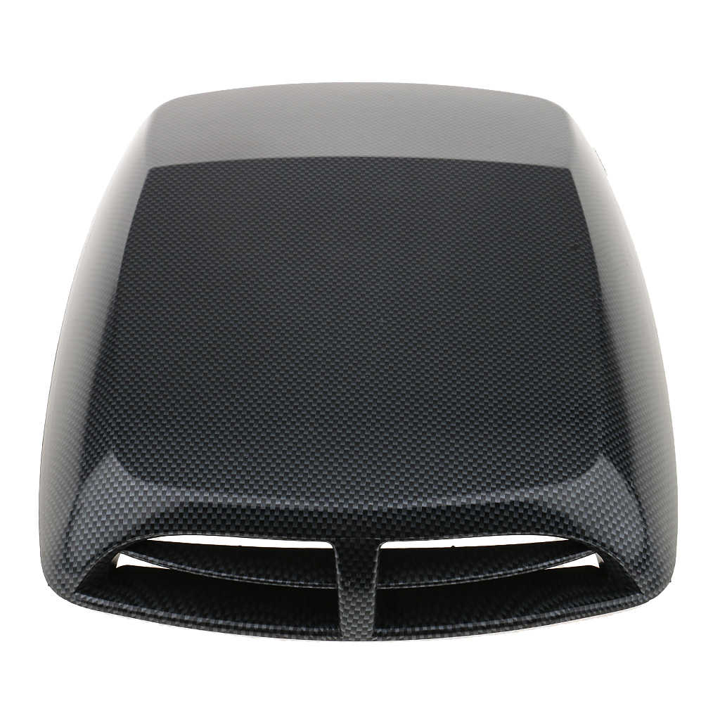 Universele Auto Decoratieve SUV Carbon Fiber Engine Air Flow Intake Hood Scoop Vent Bonnet Cover Sticker Zelfklevende