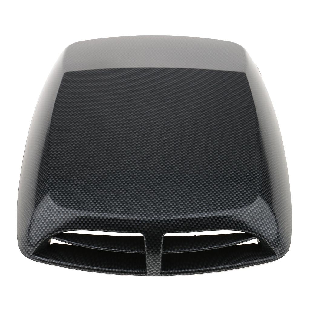 Universal Car Decorative SUV Carbon Fiber Engine Air Flow Intake Hood Scoop Vent Bonnet Cover Sticker Self-Adhesive
