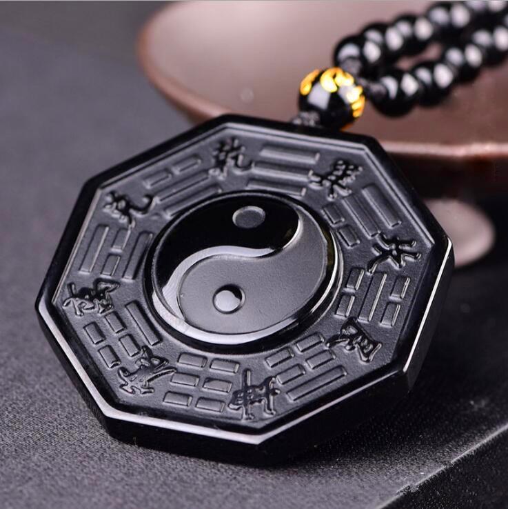 Yin Yang Obsidian Necklace