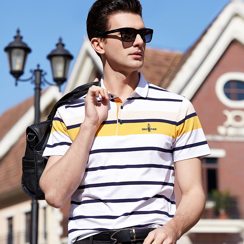 BOLUBAO Brand Slim Fit Men   Polo   Shirts 2019 Summer New Stripe Men's   Polo   Shirt Embroidery Casual Male   Polo   Shirts Tee Top