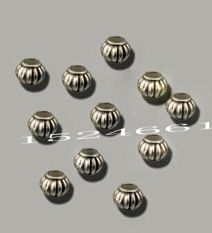 100 шт. тибетское серебро Талисманы Spacer Бусины ювелирных изделий Создание * ювелирные изделия Талисманы Коренастый Бусины оптовая продажа ремесла Рождественский
