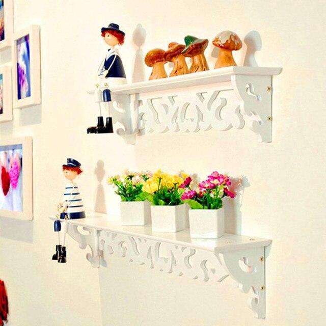1pc/lot White Wall Hanging Shelf Goods Convenient Rack Storage Holder Home Bedroom Decoration Ledge Home Decor S/M