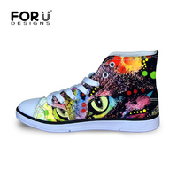 Owl Eyes Animal Pug Design Printed Canvas Shoes for Boys Student Funny Charater Cartoon Style Lace Up High Top Sneaker EUR 29 34