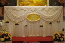 White Wedding Party Decoration Backdrop Swag For Party Decoration Curtains Customized Item 10FTX20FT