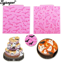 Gumpaste Moulds Cake Halloween Moon Resin Clay Chocolate Star M946 Bats Epoxy Ghosts