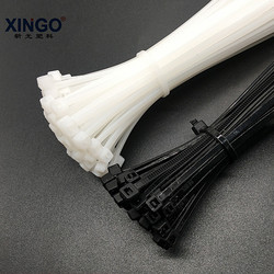 Xingo 4x120mm Self locking Nylon Cable Zip Ties 100pcs Plastic Cable Zip Tie 40lbs UL Rohs Approved Loop Wrap Bundle Ties Black