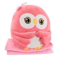 50 cm Owl Boy Plush Toy Office Sofa Midday Break Pillow Trinity Air Conditioning Blanket Birthday Children's Day Gift