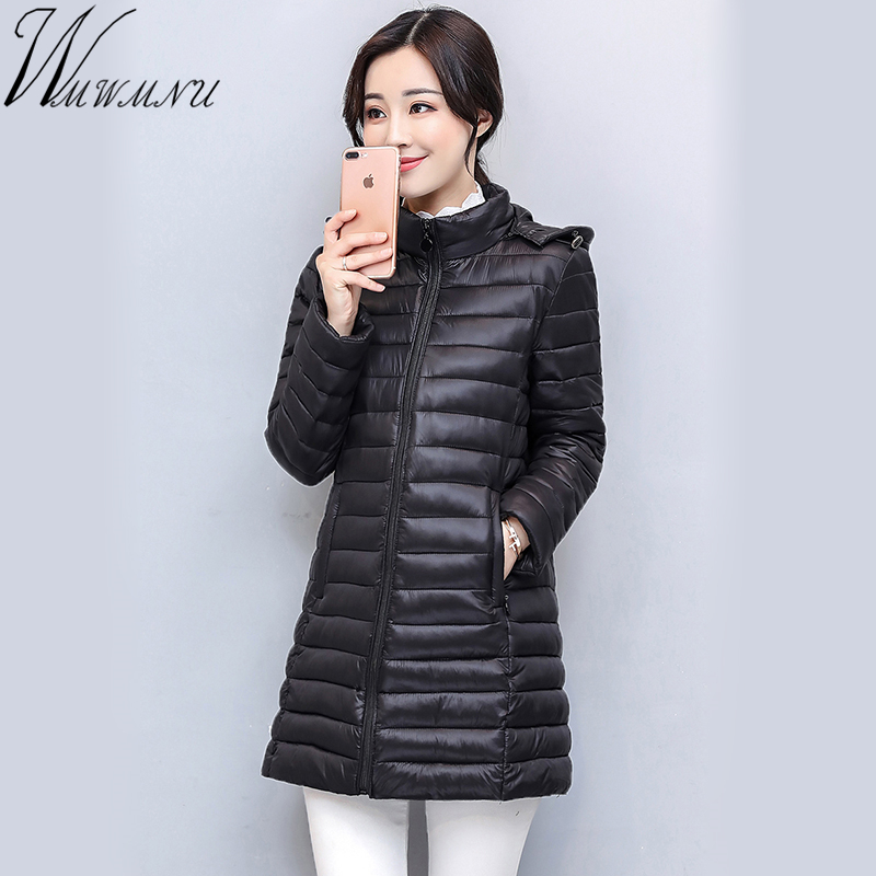 Wmwmnu mid Long Winter Warm Coat Women Ultra Light 70% White Duck Down Jacket Women's Hooded Parka Female plus size 4XL Jackets womensdate 2017 new arrival winter women 90% white duck down jacket slim short coat plus size duck down purple jackets parka
