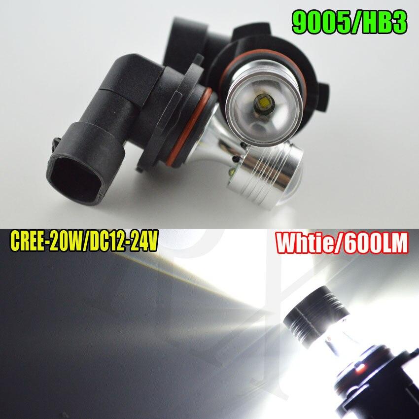 1piece 20W 9005 HB3 9006 HB4 6000K No Error LED Fog Light DRL Bulb Projector Lens 12-24VDC 2x 9006 hb4 led projector fog light drl 12w no error for volkswagen golf 6 mk6 2011 2012 scirocco 08 on t5 transporter 2003 2016