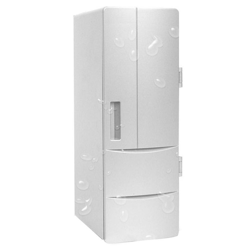 Car DC12V Universal Hot&Cold Dual USB Mini Fridge Mini USB Refrigerator Office Home Small Refrigerator Dropship 8.7