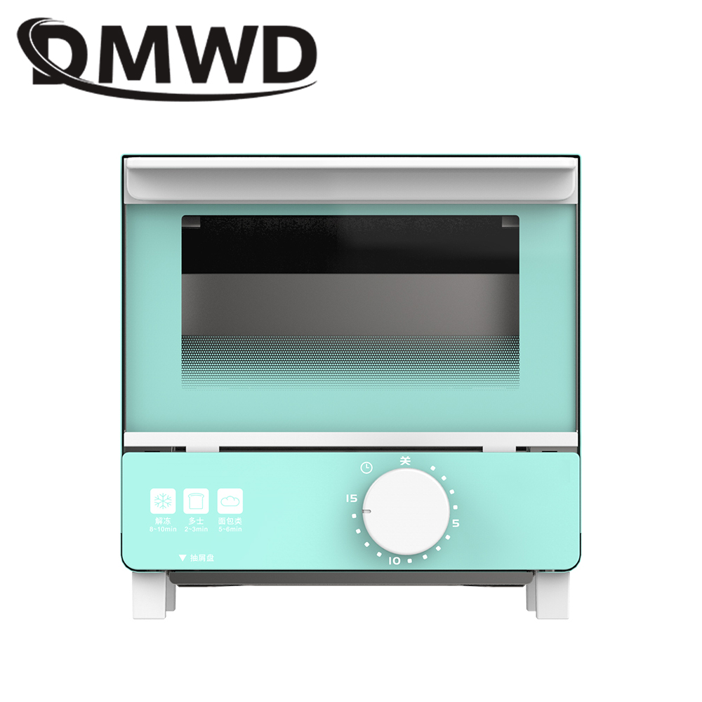 DMWD Electric oven Baking Toaster 5L Mini Breakfast Grill Machine Roaster Multifunctional Bread Cake Pizza Chicken Bakery EU US dmwd mini toaster electric oven multifunction timer making biscuits bread cake pizza cookies baking machine 12l liter 900w eu us page 3