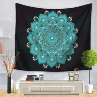 Bohemian Mandala Tapestry Floral Carpet Louts Mandala Wall Hanging For Wall Decoration Tapestry Indian tenture murale mandalas