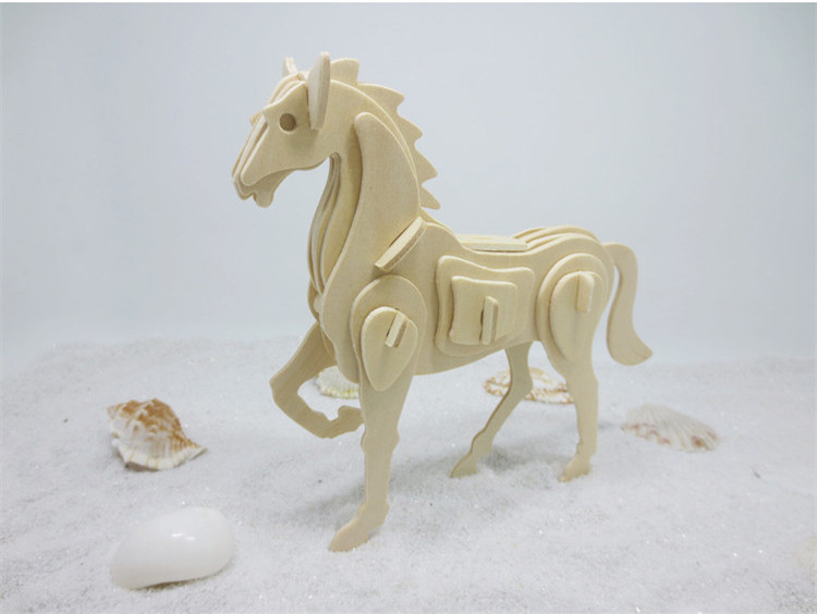 Hot Sale DS261 Horse 3D Puzzle Environmental Wooden Jigsaws for Children and Adults take a Holiday Free Shipping Italy купить