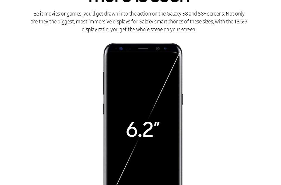 Original Samsung Galaxy S8+ S8 plus  6.2'' 12.0MP 4G RAM 64G ROM 4G LTE Octa c 4g+64g(single sim) 8