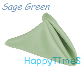 100pcs/lot Wedding&Banquet Decoration Luxury 40*40cm 100% Polyeste Sage Green Napkin Wedding Cloth Napkins CL007