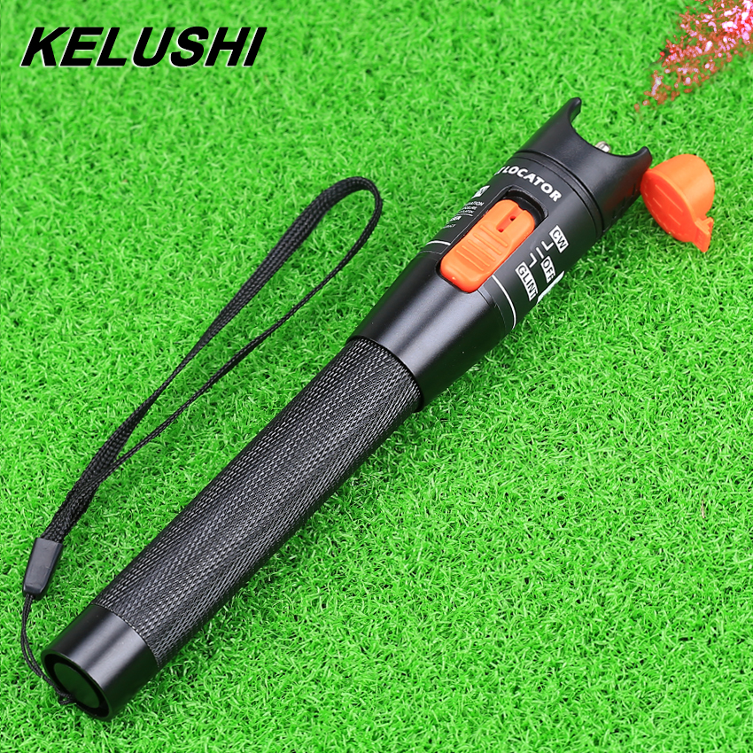 KELUSHI 10 mW Pen Type Röd ljuskälla Visual Fault Locator Fiber Optic Cable Tester