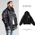 2016 winter clothing new popular logo Embroidery pentagram magic circle MA1 'bomber jackets men 's coat