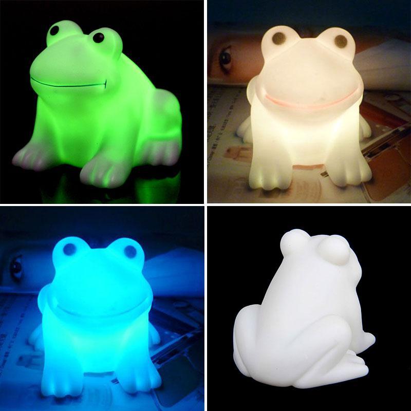 Abajur color cambiante animal Frog forma LED noche luz blanca ...