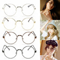 2017 Hot Cute Style Vintage Metal Round Glasses with Thin Frame Clear Lens Plain Glass Spectacles Glass Light Optical Eyewear