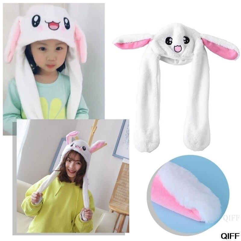Прямая поставка и горячая новинка волшебный кролик шляпа с движущимися ушами плюшевые игрушки подарок детские игрушки вечерние фото May06