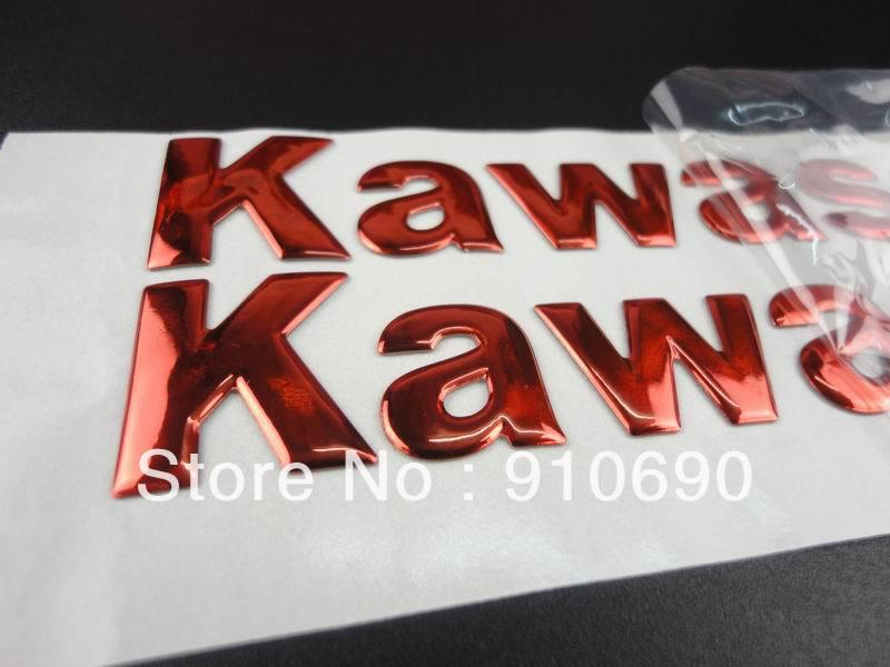 3D Red Soft Gel Fairing Kit Body Fuel Gas Tank Emblem Sticker Universal Kawasaki Ninja KX Vulcan KLR Versys Voyager ZN1100 - Crazy-Motor store
