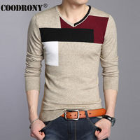 High Quality Autumn Winter Soft Warm Knitted Cashmere Sweater Men Christmas Sweaters Casual V Neck Pullover