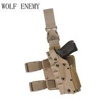 Tactical Holster stile Airsoft Gear Tan Leg Holster Gun per Gl 17/1911 Beretta M92 M9 SIG P226 P2022