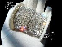 888 Clear Crystal Rhinestone Close Chain Trims Silver SS12 3mm 10 Yard Bridal Appliques Trims For