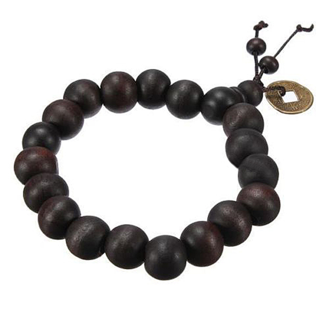 Buddhist Tibetan Buddha Strand Bracelet Vintage Wood Beads Men Natural Handmade Male