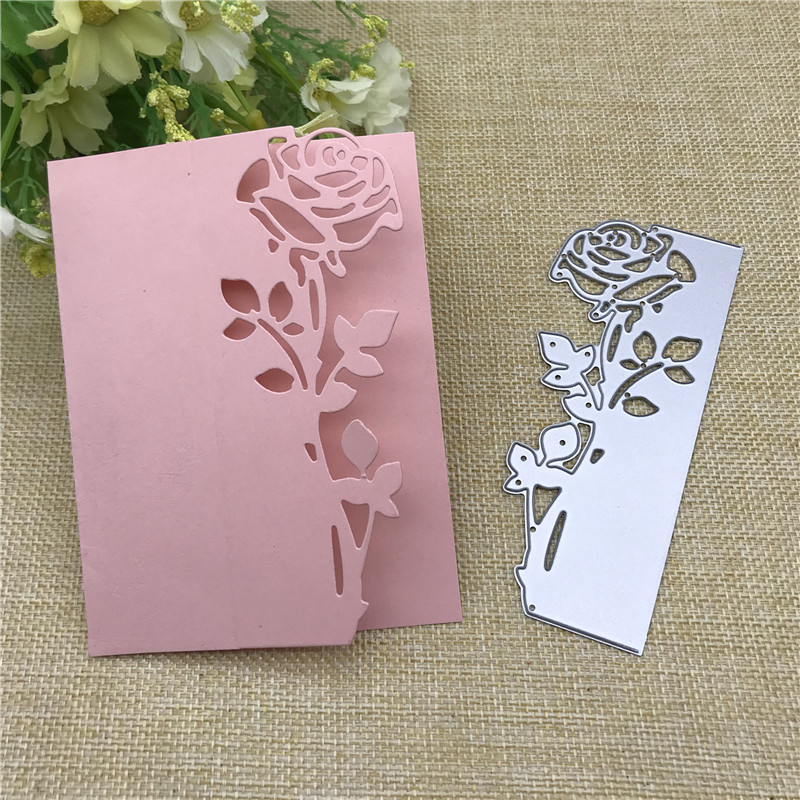 Rose Flower Dies Metal Cutting Dies Stencil for DIY Scrapbooking album Decorative Embossing Craft Cut Paper Cards Tool 48 118mm in Cutting Dies from Home Garden
