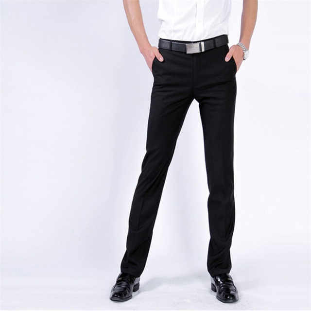 383457fe1 Social Pantalon Office Coveralls Dress Slim Fit Pantalones De Vestir hombre  Formal Man men Skinny Casual Korean Pants Trousers