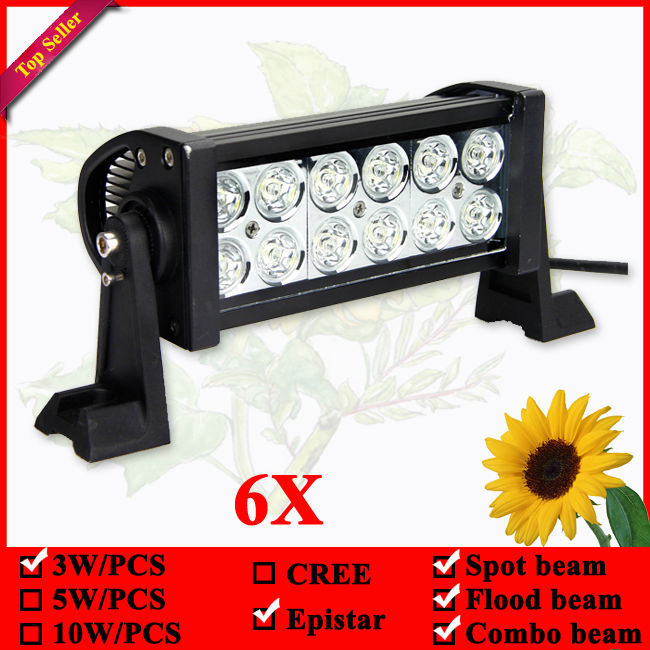 6x 7Inch 36W LED Light Bar for Off Road Indicators Work Driving Offroad Boat Car Truck 4x4 SUV ATV Fog Spot Flood Combo 12V 8 inch 40w cree led light bar for off road indicators work driving offroad boat car truck 4x4 suv atv fog spot flood 12v 24v