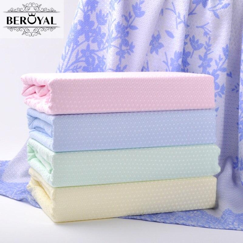 Beroyal 2019 été couverture-1 pc bambou fibre couverture lit plaid couverture tissé 180*200 cm doux jeter couverture tapis diamant patten