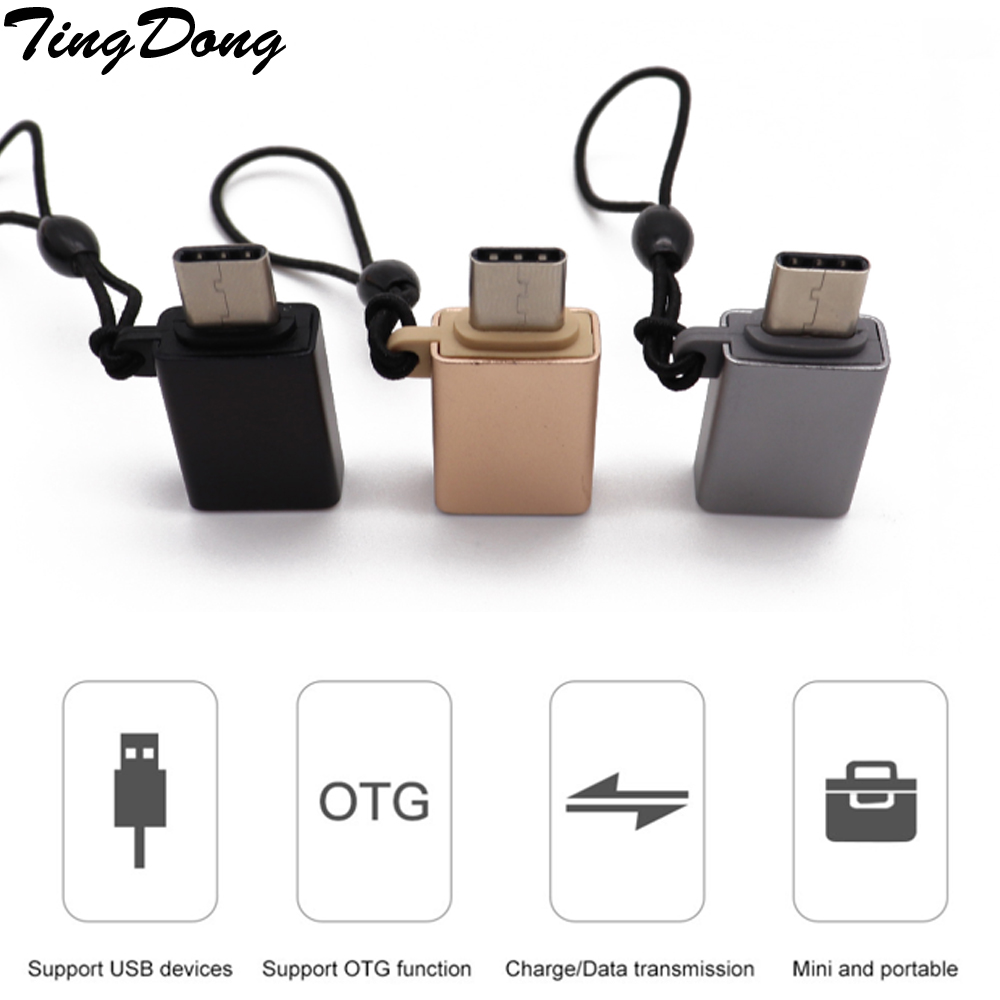 TYPE C Male To USB Female Cable Adapter Converter For USB C To USB ( Male To Female ) Charger Plug OTG Adapter Converter