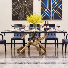 200X100X75 см современный дизайн мраморный обеденный стол мебель W0204