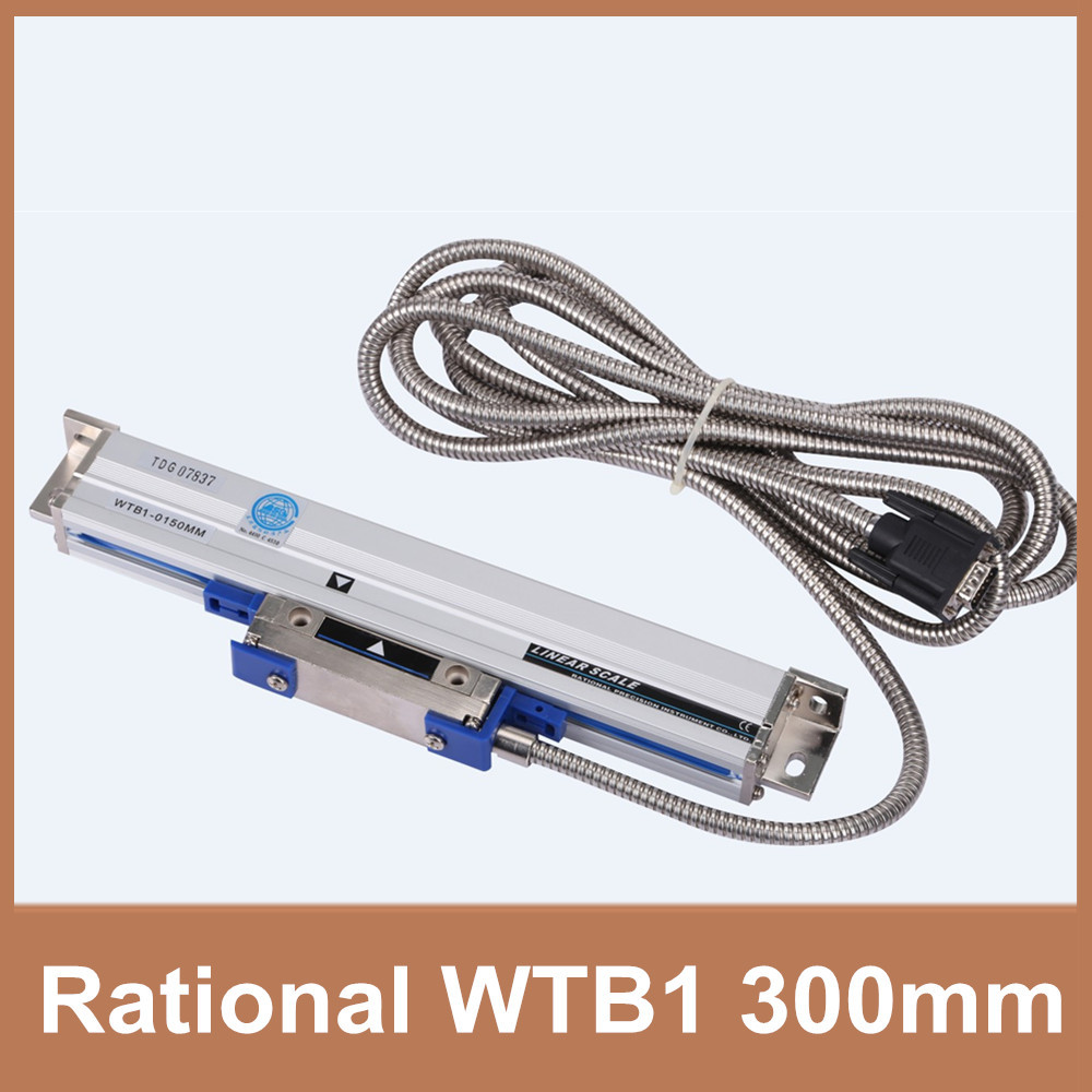 Free Shipping Rational digital scale linear WTB1 0.001mm 300mm TTL 5V 0.001mm linear optical scale for milling lathe CNC free shipping high precision easson gs11 linear wire encoder 850mm 1micron optical linear scale for milling machine cnc