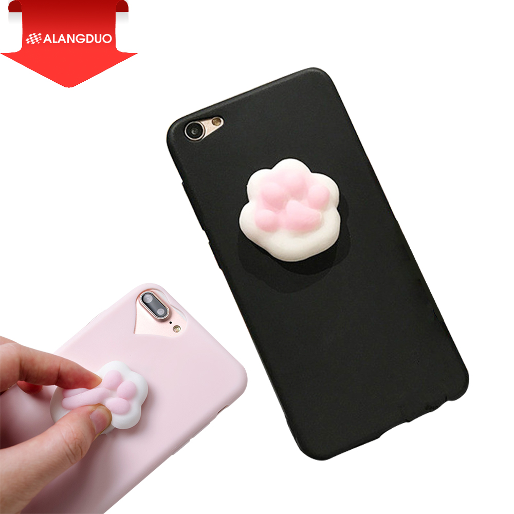 Cover iphone 5 squishy - Alangduo For Iphone 5 5s Se Case Lovely 3d Silicon Cartoon Cute Cat Paw Sea Lion
