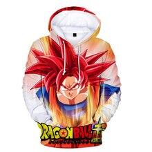 Anime Hoodie Dragon Ball Z Pocket Hooded Sweatshirt Kid Goku 3D Hoodies Pullovers Men Women Long Sleeve Outerwear Poleron Hombre