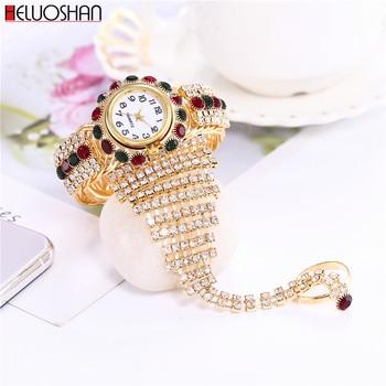 цена на 2020 Top Brand Luxury Clock Rhinestone Bracelet Watch Women Watches Ladies Wristwatch Relogio Feminino Reloj Mujer Montre Femme
