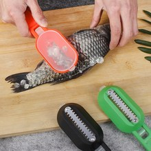 CARRYWON Fish Scale Scraper Fish Knife Kitchen Accessories Stainless Steel Plastic Fish Scale Planing Seafood Tool Fish Tweezers