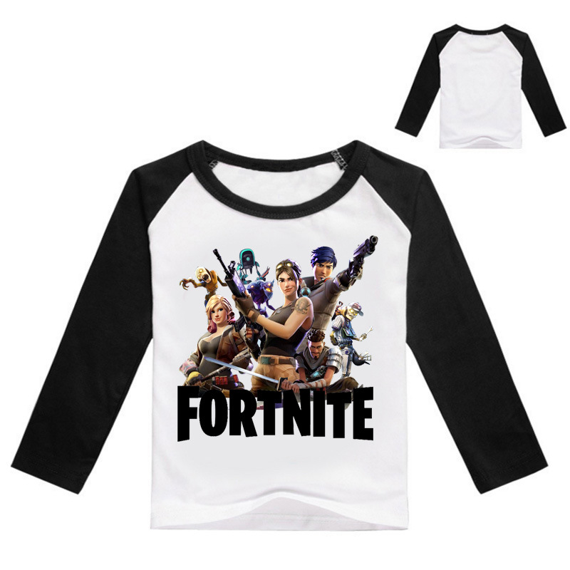 2018 Game Fortnite Long Full Sleeve T Shirt for Teenage Boys Girls Childrens Clothing T-shirt Kids Baby Clothes 3-14T