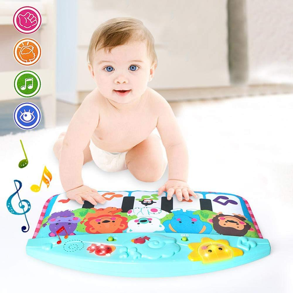 Cartoon Animal Baby Touch Play Game Music Mat Piano Keyboard Carpet Blanket Early Education Crawling Activity Mat Toys