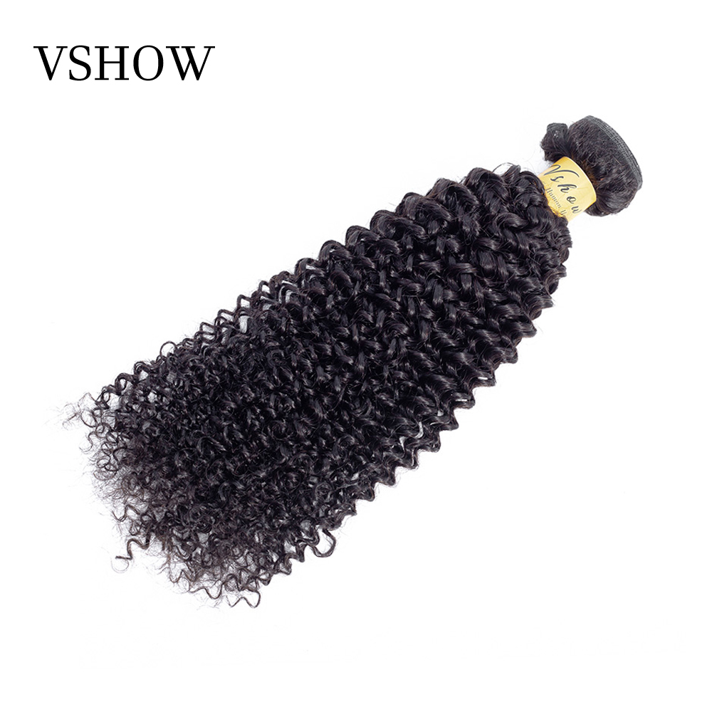 Malaysian Kinky Curly Hair Bundles Remy Hair 1 Bundle Deals VSHOW Human Hair Extensions 10 26