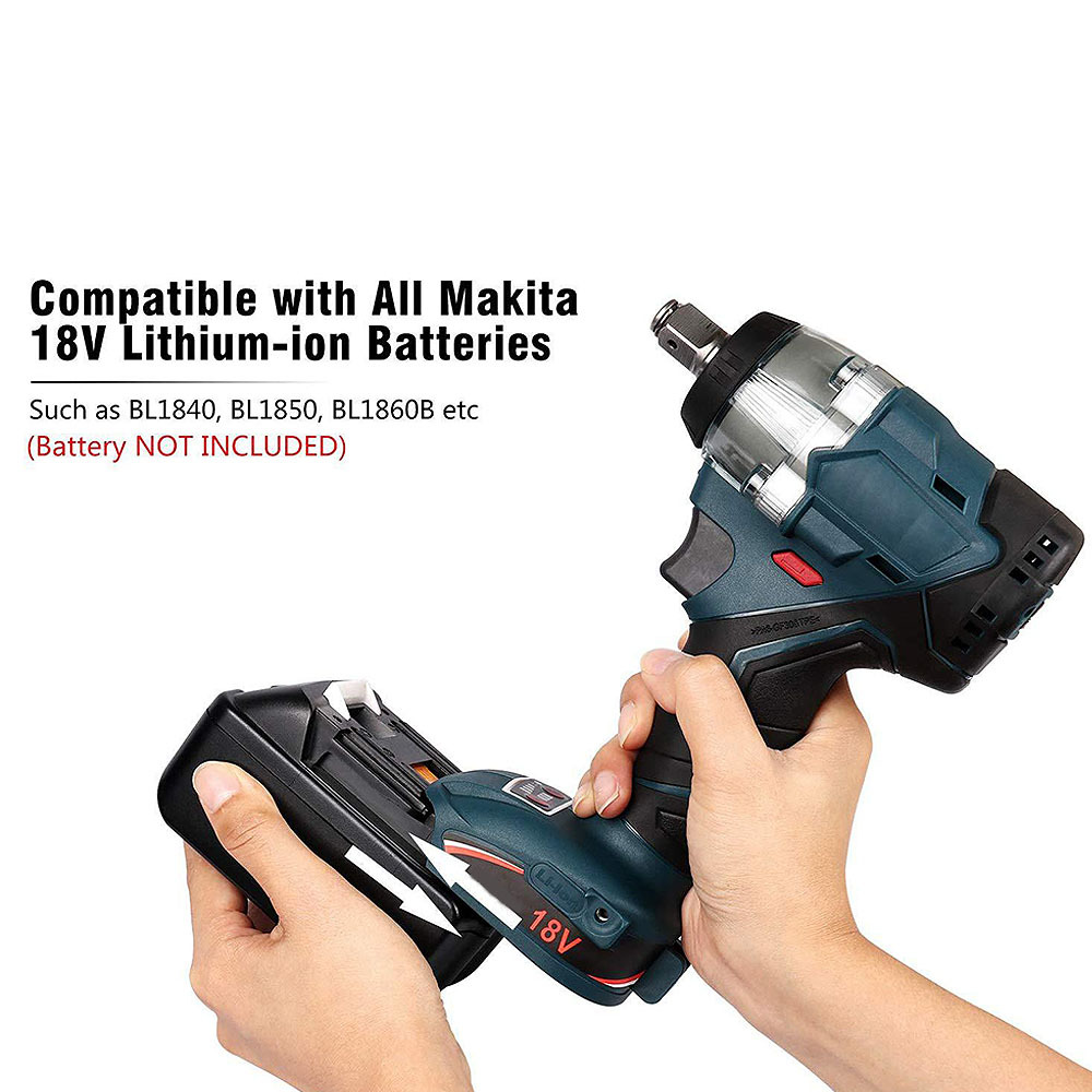 Image 3 - 18V Replacement Brushless 1/2 Inch Impact Wrench for Makita DTD152 DTD170 New 18V Impact Driver-in Electric Drills from Tools on