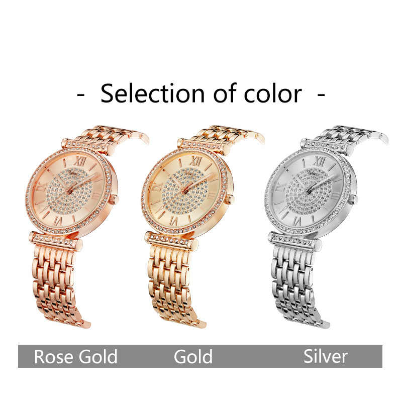 Women Watches Top Brand Luxury Stainless Steel Gold Sliver Clock Women Bracelet Waterproof Lady Wristwatches  montre femme  2018