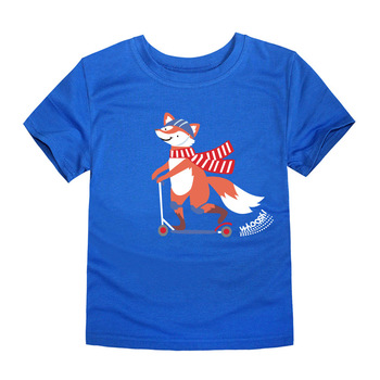 SMHONG 2-14 Years Old Fox Children Kids Shorts sleeve Tops Tees T Shirt Summer Teenager Boys Girls T-Shirt For Gift