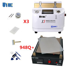 Newest UYUE 948Q+Build-In Vacuum Pump LCD Screen Separator Machine+Auto lock 2 in 1 X3 OCA Vacuum Laminating Machine