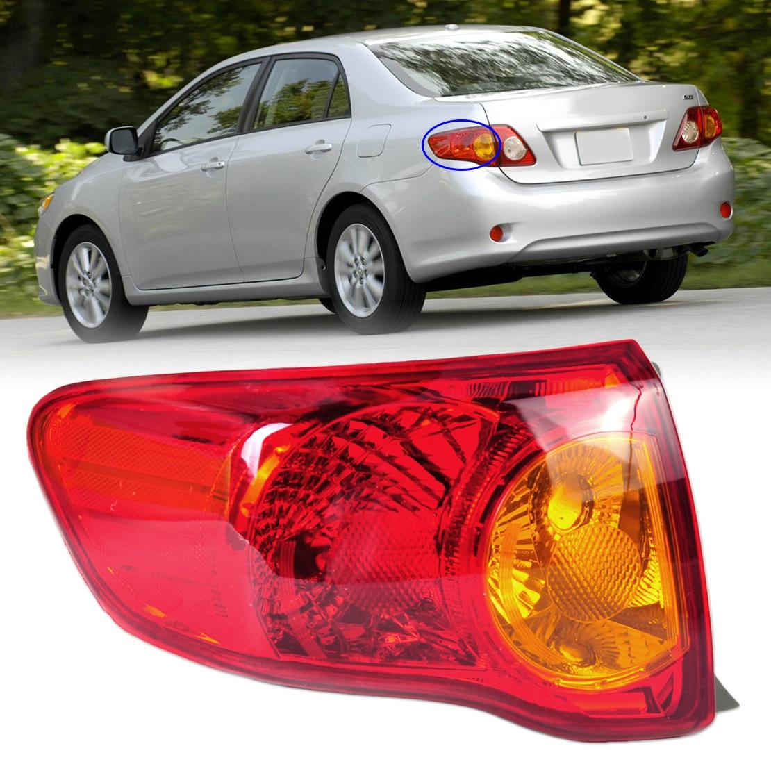 DWCX TO2800175 166-50863L Rear Left Outer Tail Light Taillight Hoods Brake Light for Toyota Corolla 2009 2010 left hand drive for vw passat b6 2006 2007 2008 2009 2010 2011 led rear tail light lamp left side outer left hand trafic only 3c5945095f