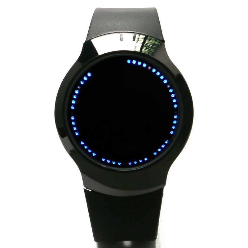 все цены на Fashion Watch, LED Touch Screen Digital Watches, Black White Silicone Smart Watches Cool Creative Women Men Watches онлайн