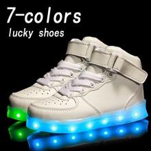 Eur25-37//USB De Charge Panier Led Enfants Chaussures Avec La Lumière Up Enfants Occasionnels Garçons et Filles Baskets Lumineuses Chaussures Rougeoyante enfant